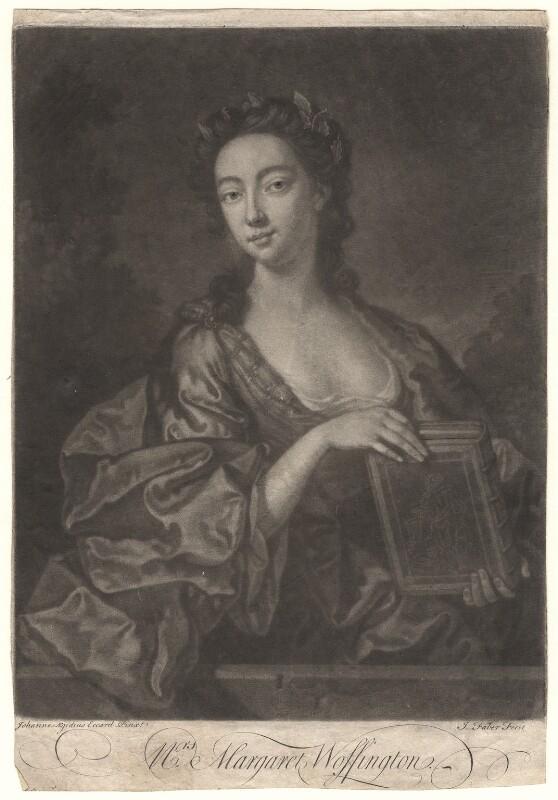 Peg Woffington, by John Faber Jr, after  John Giles Eccardt, 1745 - NPG D4873 - © National Portrait Gallery, London