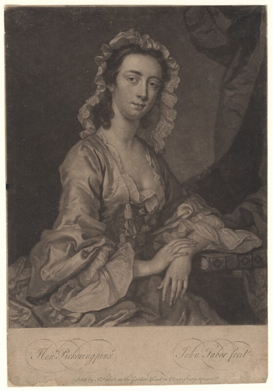 Peg Woffington, by John Faber Jr, after  Henry Pickering, circa 1740-1756 - NPG D4877 - © National Portrait Gallery, London