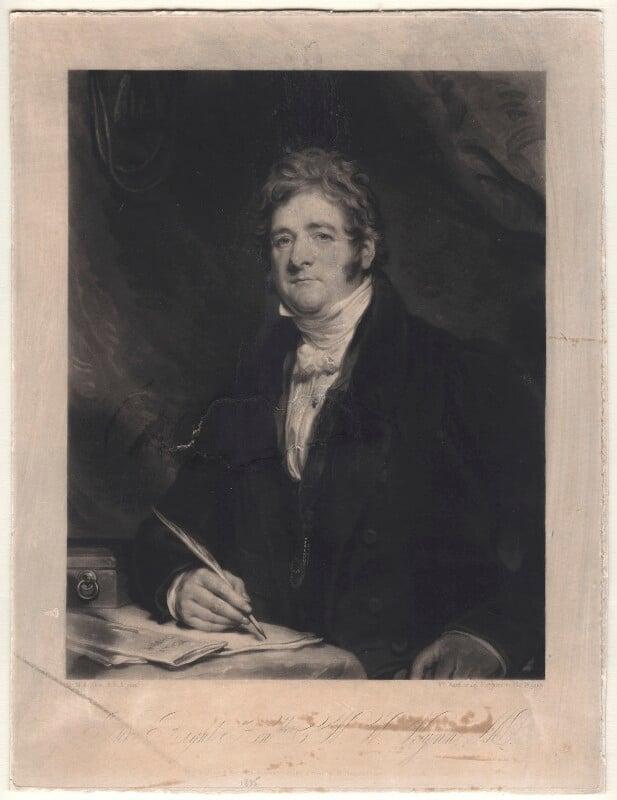 Charles Watkin Williams Wynn, by William Ward, after  Sir Martin Archer Shee, published 1835 - NPG D4943 - © National Portrait Gallery, London