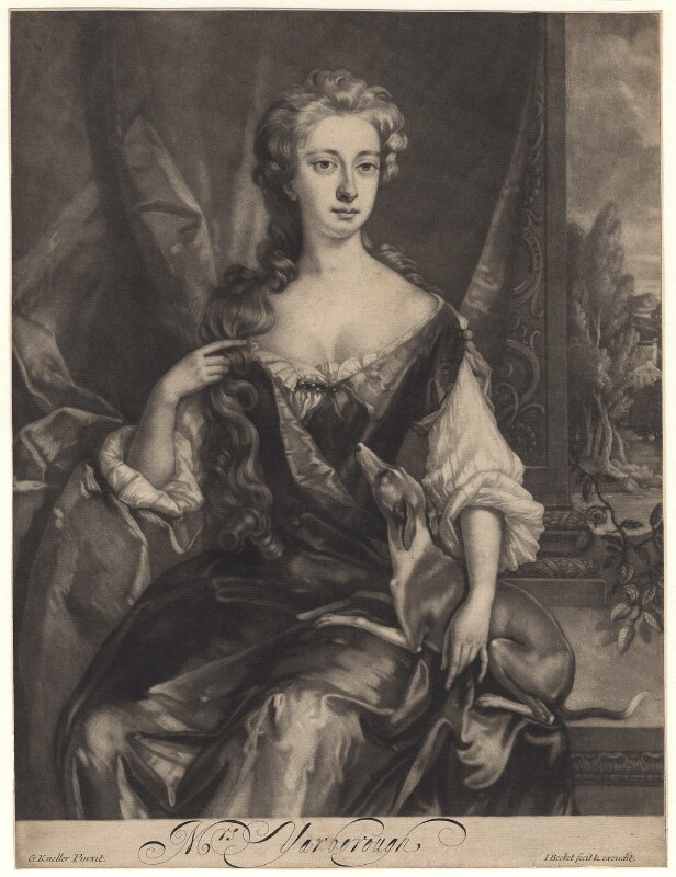 Henrietta Maria Wyvill (née Yarborough), Lady Wyvill, by and published by Isaac Beckett, after  Sir Godfrey Kneller, Bt, 1681-1688 - NPG D4947 - © National Portrait Gallery, London
