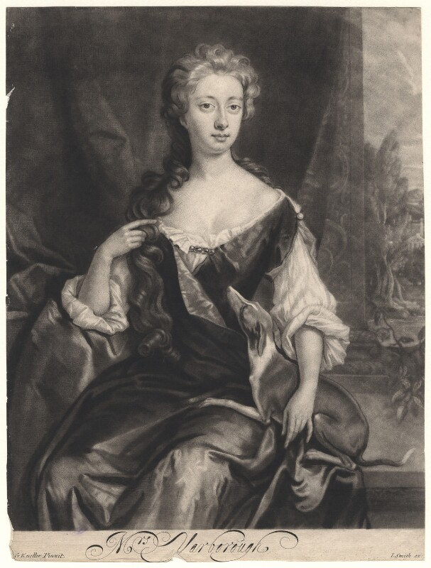 Henrietta Maria Wyvill (née Yarborough), Lady Wyvill, by Isaac Beckett, published by  John Smith, after  Sir Godfrey Kneller, Bt, 1681-1688 - NPG D4948 - © National Portrait Gallery, London