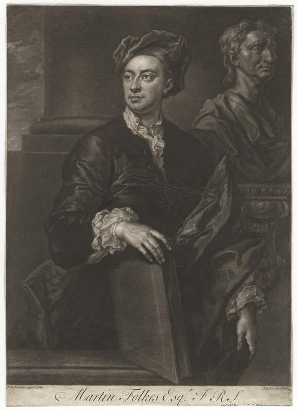 Martin Folkes, by John Faber Jr, after  John Vanderbank, 1737 (1736) - NPG D4987 - © National Portrait Gallery, London