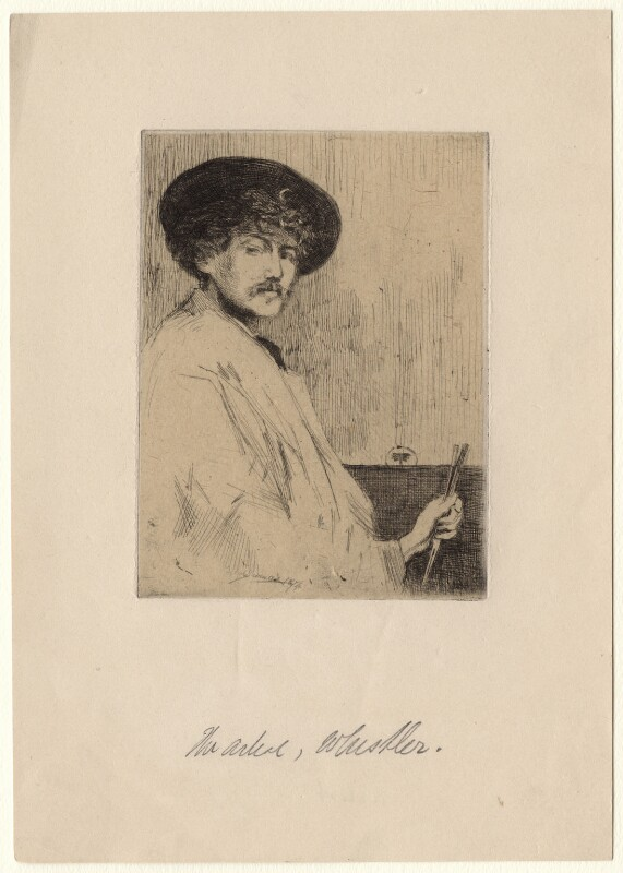 James Abbott McNeill Whistler, by Percy Thomas, after  James Abbott McNeill Whistler, 1874 - NPG D4997 - © National Portrait Gallery, London