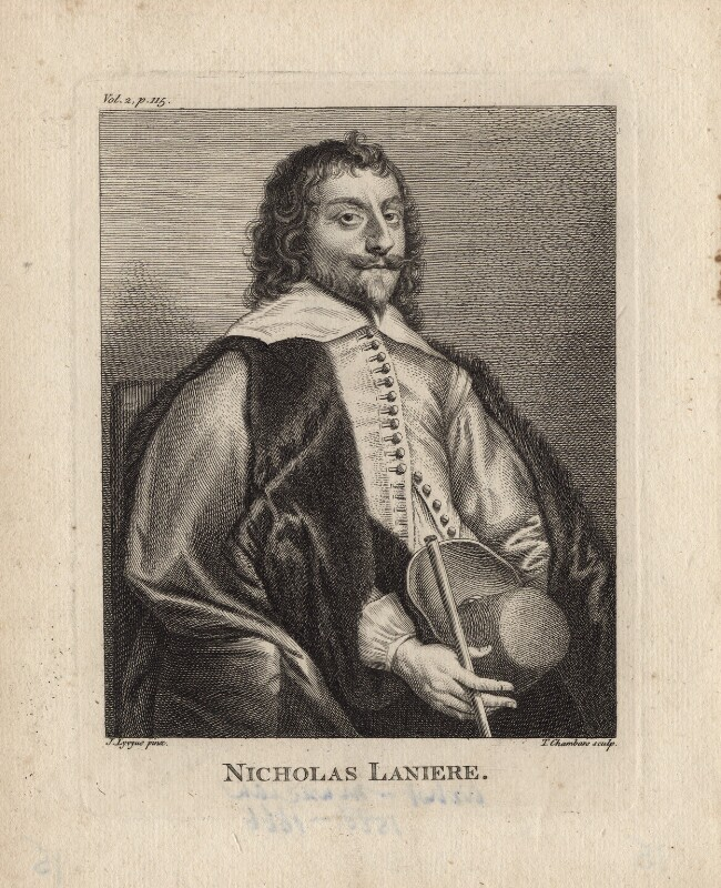 Nicholas Lanier, by Thomas Chambers (Chambars), after  Jan Lievens, published 1762 - NPG D5016 - © National Portrait Gallery, London