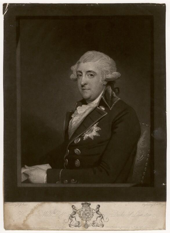 William Robert Fitzgerald, 2nd Duke of Leinster, by Charles Howard Hodges, after  Gilbert Stuart, published 1792 - NPG D5059 - © National Portrait Gallery, London
