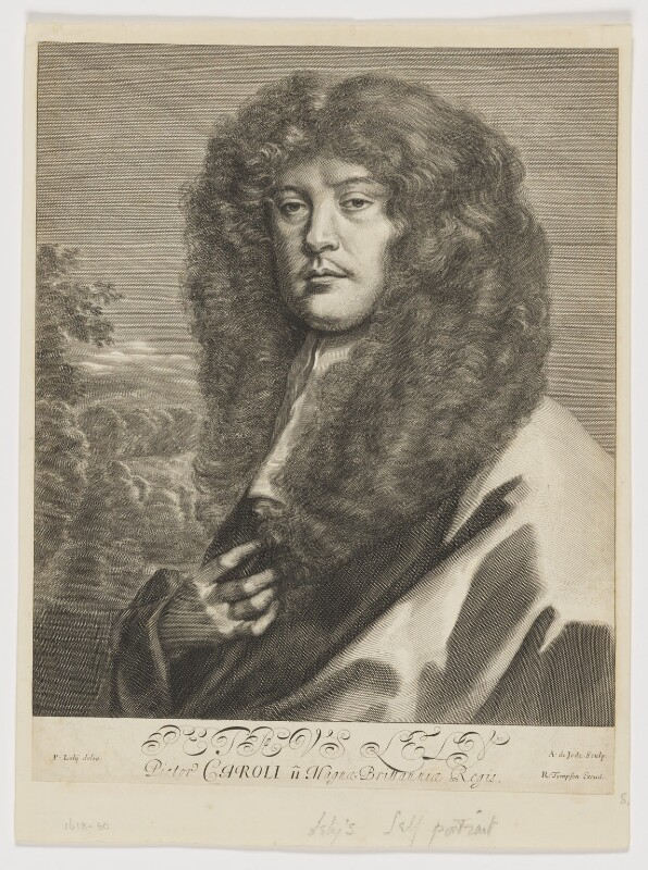 Sir Peter Lely, by Arnold de Jode, published by  Richard Tompson, after  Sir Peter Lely, circa 1666 - NPG D5062 - © National Portrait Gallery, London