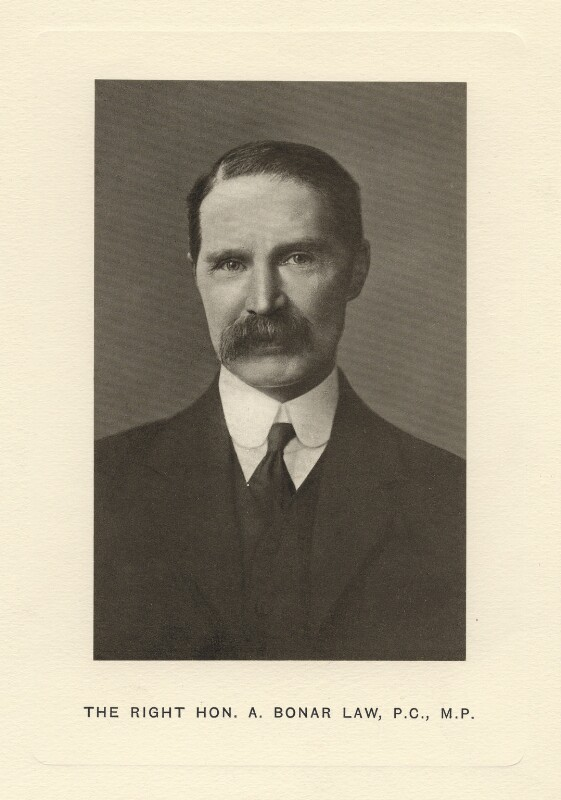Bonar Law, after Unknown photographer, published 1913 - NPG D5037 - © National Portrait Gallery, London