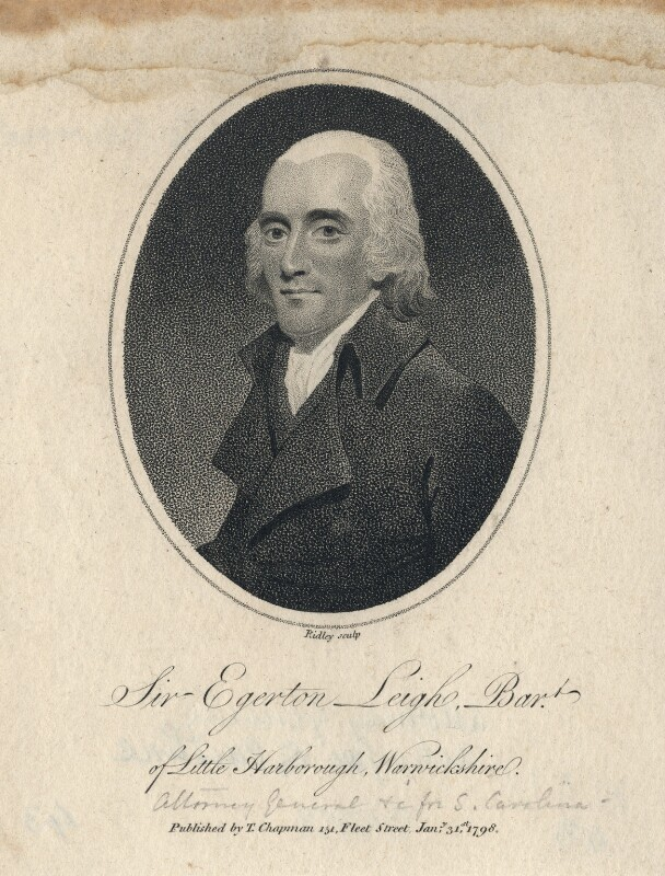 Sir Egerton Leigh, 2nd Bt, by William Ridley, published by  Thomas Chapman, published 1798 - NPG D5054 - © National Portrait Gallery, London