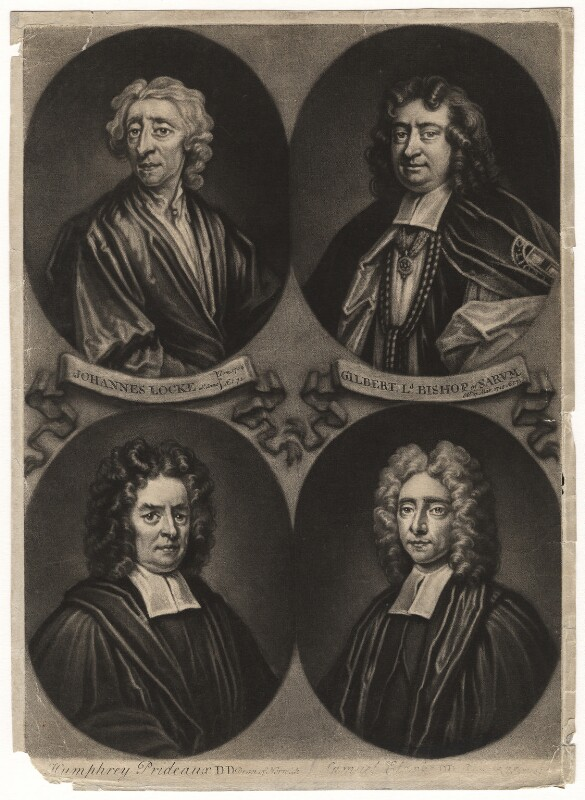 Gilbert Burnet; John Locke; Humphrey Prideaux; Samuel Clarke, by John Simon, circa 1715-1724 - NPG D5100 - © National Portrait Gallery, London
