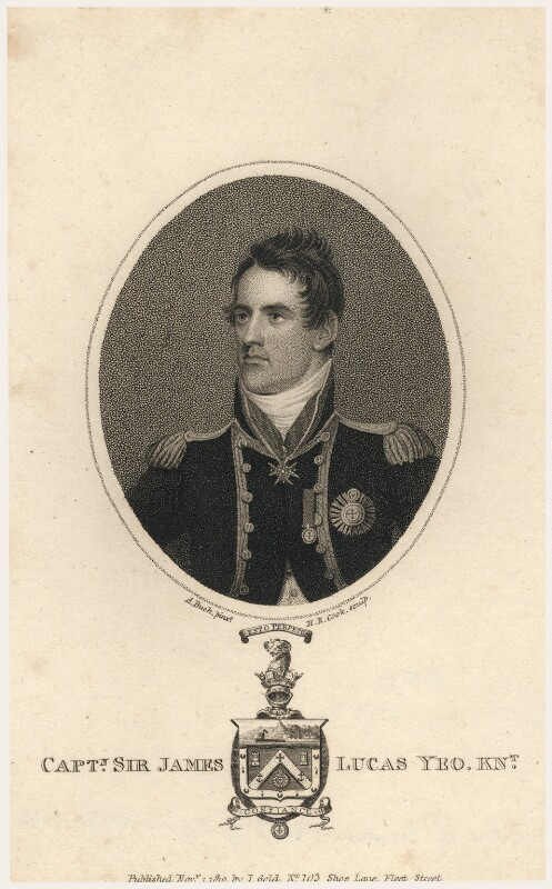Sir James Lucas Yeo, by Henry Richard Cook, published by  Joyce Gold, after  Adam Buck, published 1 November 1810 - NPG D5133 - © National Portrait Gallery, London