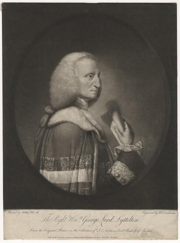 George Lyttelton, 1st Baron Lyttelton, by Robert Dunkarton, after  Benjamin West, published 1774 - NPG D5150 - © National Portrait Gallery, London
