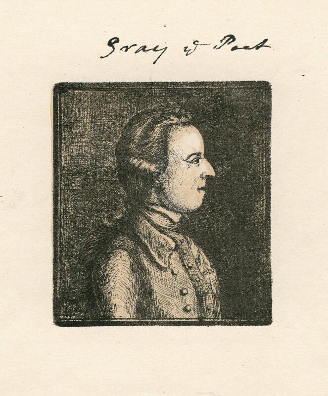 Thomas Gray, after William Mason, (1760?) - NPG D5162 - © National Portrait Gallery, London