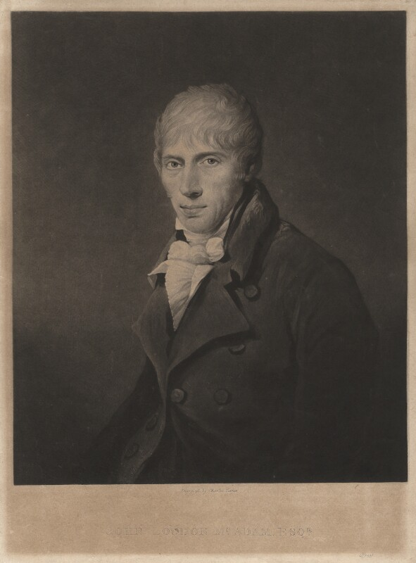 John Loudon McAdam, by Charles Turner, after  Unknown artist, published 1825 - NPG D5166 - © National Portrait Gallery, London