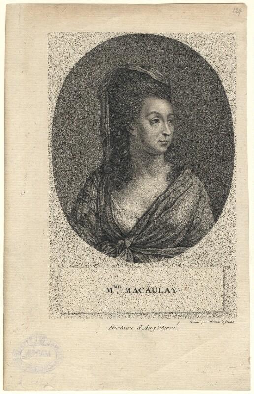 Catharine Macaulay (née Sawbridge), by Marais le Jeune, late 18th-early 19th century - NPG D5168 - © National Portrait Gallery, London