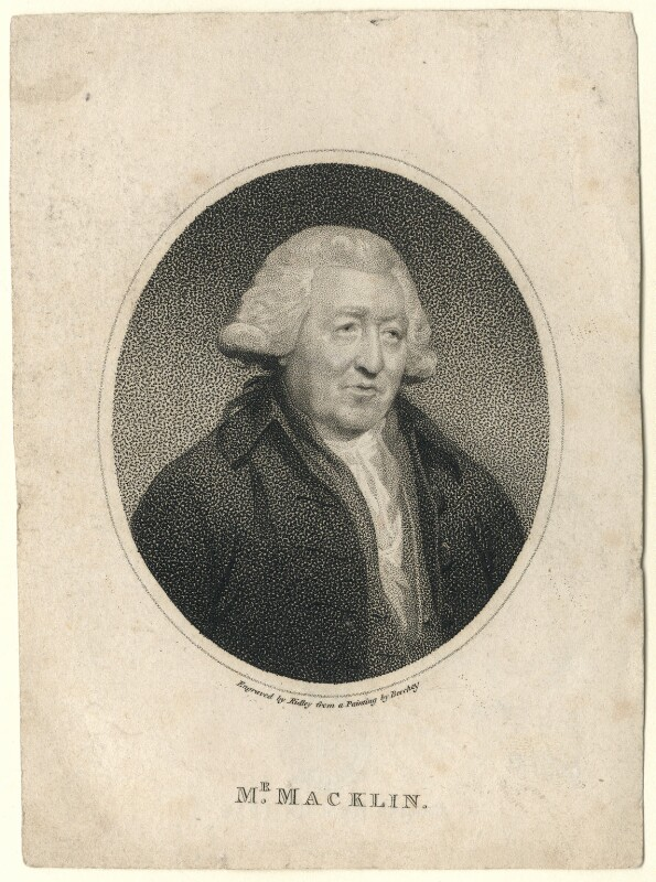 Charles Macklin, by William Ridley, after  Sir William Beechey, published 1796 - NPG D5171 - © National Portrait Gallery, London