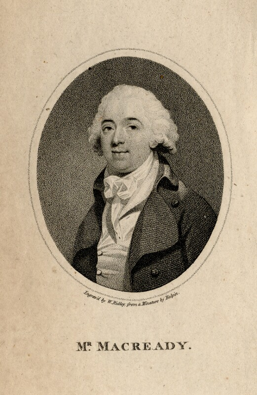 William Macready, by William Ridley, after  John Edmond Halpin (Halpen), published 1794 - NPG D5185 - © National Portrait Gallery, London