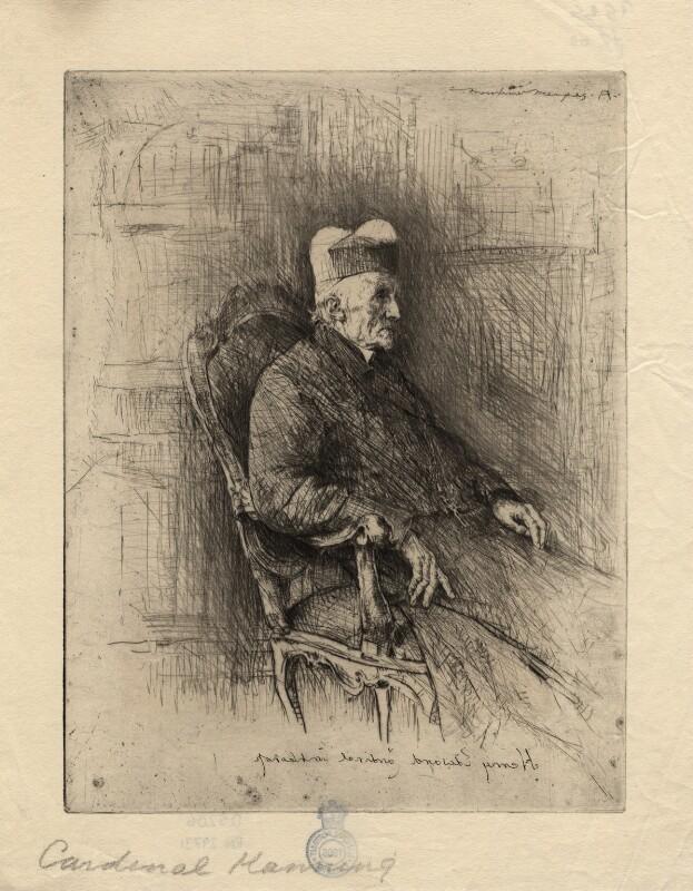 Henry Edward Manning, by Mortimer Luddington Menpes, circa 1880-1920 - NPG D5206 - © National Portrait Gallery, London