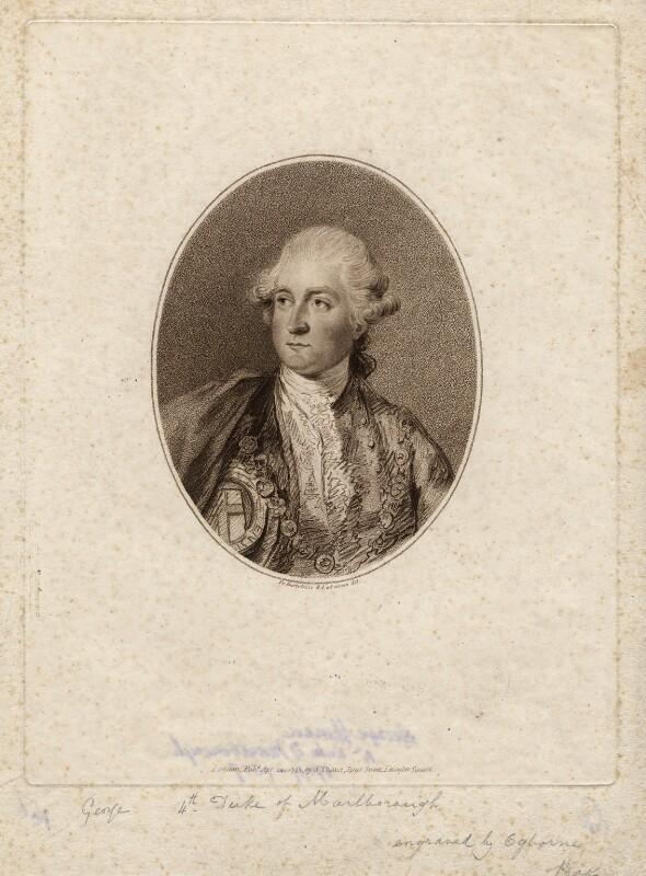 George Spencer, 4th Duke of Marlborough, by John Ogborne, published by  John Thane, after  Francesco Bartolozzi, published 24 April 1795 - NPG D5214 - © National Portrait Gallery, London