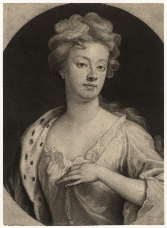 Sarah Churchill (née Jenyns (Jennings)), Duchess of Marlborough, by John Smith, after  Sir Godfrey Kneller, Bt, (1705) - NPG D5216 - © National Portrait Gallery, London