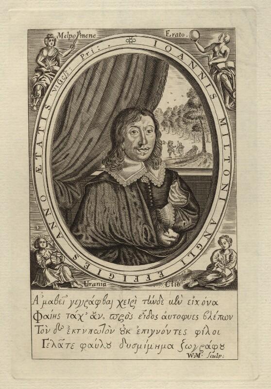 John Milton, after William Marshall, circa 1800 (1645) - NPG D5263 - © National Portrait Gallery, London