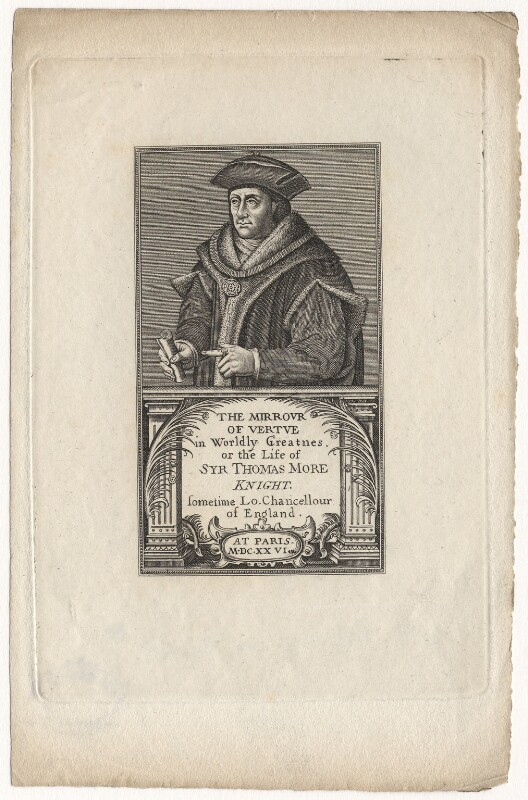 Sir Thomas More, after Hans Holbein the Younger, published 1817 - NPG D5295 - © National Portrait Gallery, London
