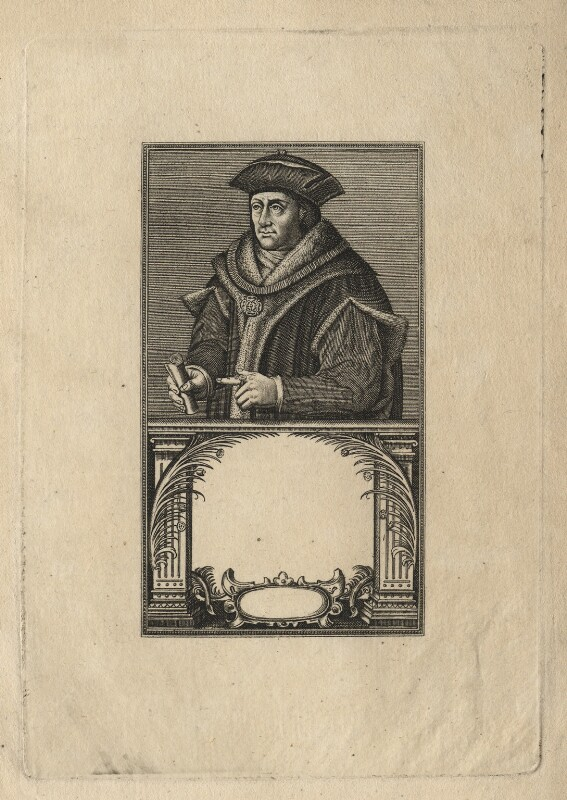 Sir Thomas More, after Hans Holbein the Younger, published 1817 - NPG D5296 - © National Portrait Gallery, London