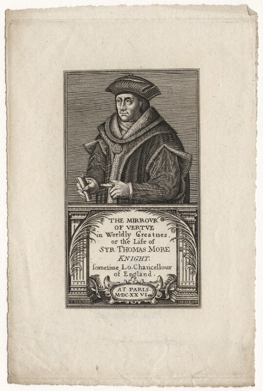 Sir Thomas More, after Hans Holbein the Younger, published 1817 - NPG D5297 - © National Portrait Gallery, London