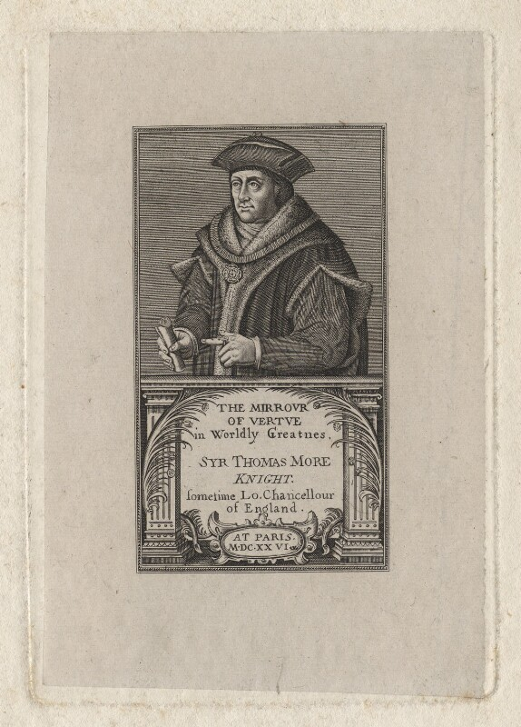 Sir Thomas More, after Hans Holbein the Younger, published 1817 - NPG D5298 - © National Portrait Gallery, London