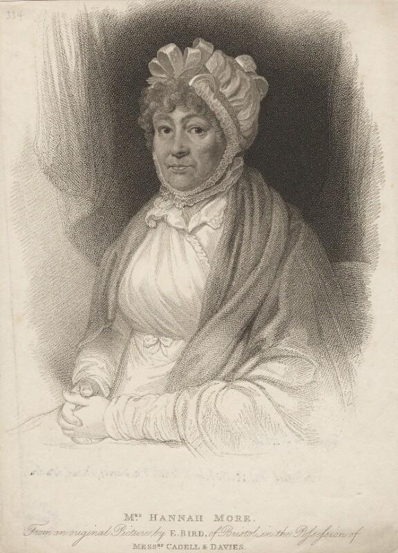 Hannah More, by James Godby, after  Edward Bird, published 25 September 1809 - NPG D5299 - © National Portrait Gallery, London