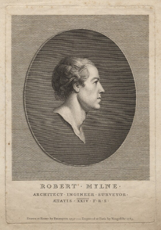 Robert Mylne, by Vincenzio Vangelisti, after  Richard Brompton, 1783 (1783) - NPG D5326 - © National Portrait Gallery, London