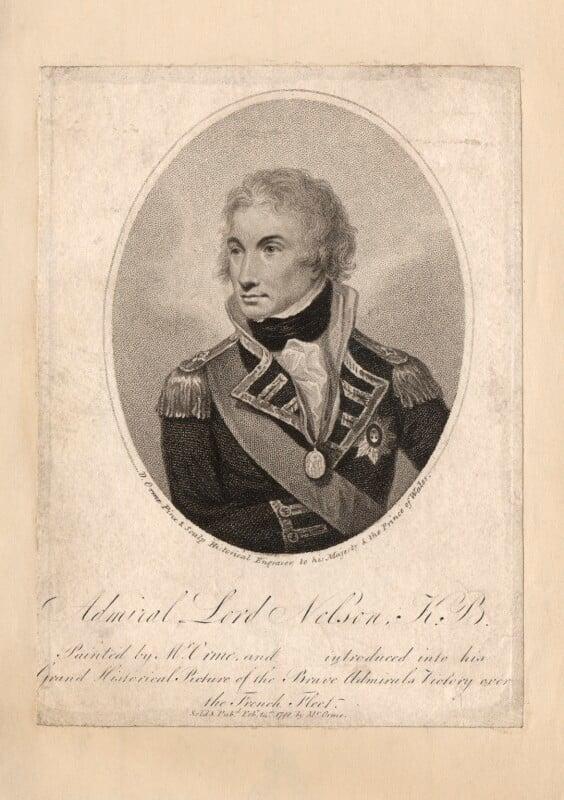 Horatio Nelson, by Daniel Orme, published 1798 - NPG D5335 - © National Portrait Gallery, London