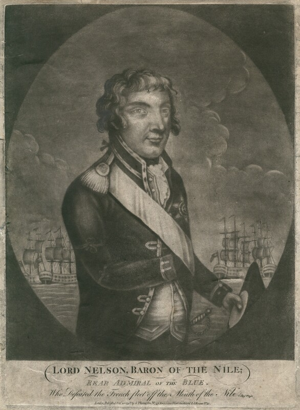 Horatio Nelson, after Unknown artist, published 1798 - NPG D5343 - © National Portrait Gallery, London