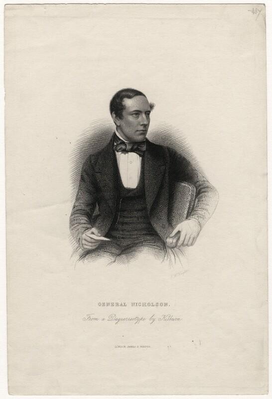 John Nicholson, by J.W. Knight, published by  James Sprent Virtue, after a daguerreotype by  William Edward Kilburn, circa 1855-1873 - NPG D5359 - © National Portrait Gallery, London