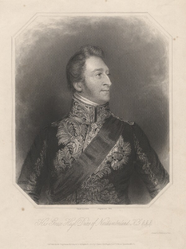 Hugh Percy, 3rd Duke of Northumberland, by William Holl Sr, or by  William Holl Jr, printed by  Wilkinson & Dawe, published by  R. Ryley, published by  James Fraser, published by  Sir Francis Graham Moon, 1st Bt, after  George Raphael Ward, published 1838 - NPG D5371 - © National Portrait Gallery, London