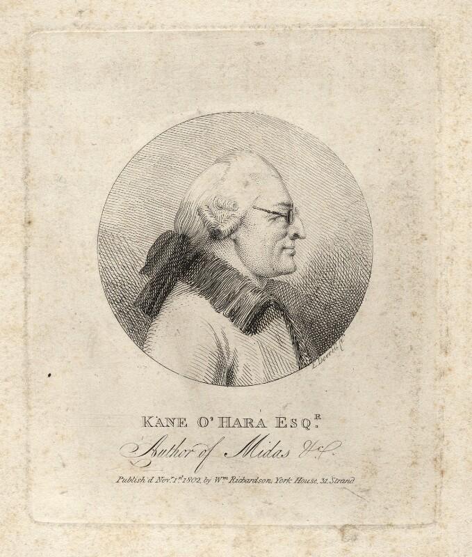 Kane O'Hara, by Edmund Dorrell, published 1 November 1802 - NPG D5391 - © National Portrait Gallery, London