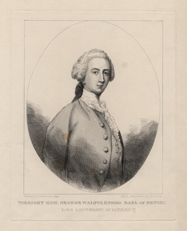 George Walpole, 3rd Earl of Orford, by William Camden Edwards, after  Jean Etienne Liotard, 1844 - NPG D5422 - © National Portrait Gallery, London