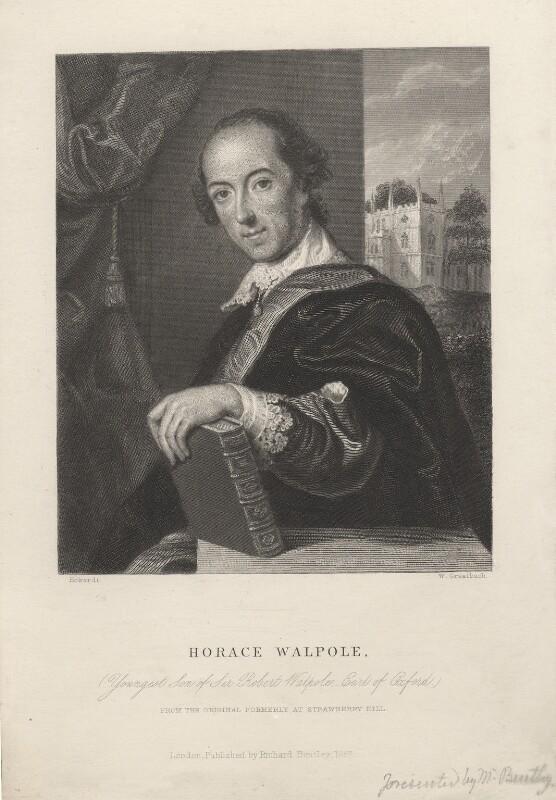 Horace Walpole, by William Greatbach, after  John Giles Eccardt, published 1857 - NPG D5425 - © National Portrait Gallery, London
