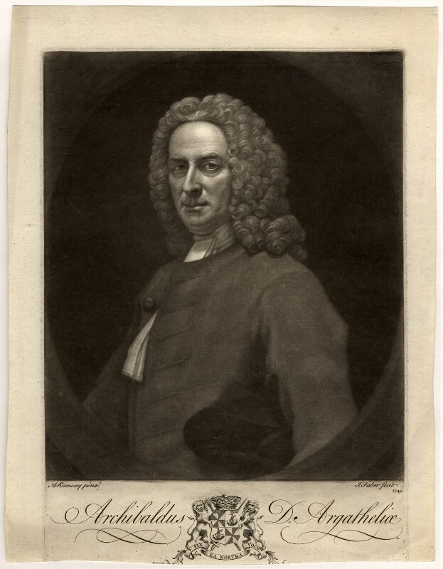 Archibald Campbell, 3rd Duke of Argyll, by John Faber Jr, after  Allan Ramsay, 1749 - NPG D547 - © National Portrait Gallery, London