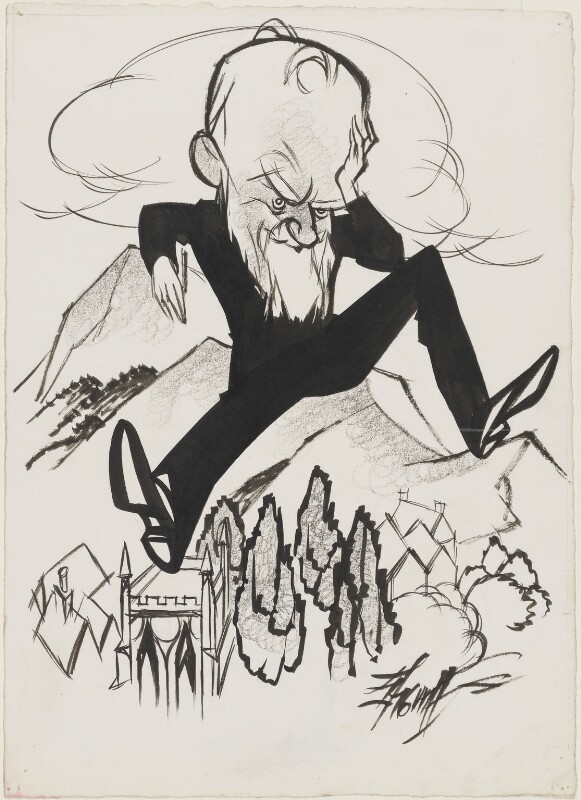 George Bernard Shaw, by Robert Stewart Sherriffs,  - NPG D55 - © reserved; collection National Portrait Gallery, London
