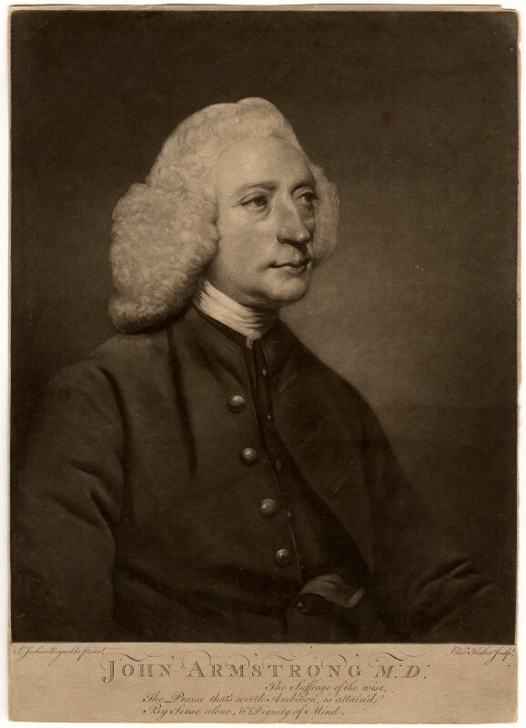 John Armstrong, by Edward Fisher, after  Sir Joshua Reynolds, (1767) - NPG D550 - © National Portrait Gallery, London