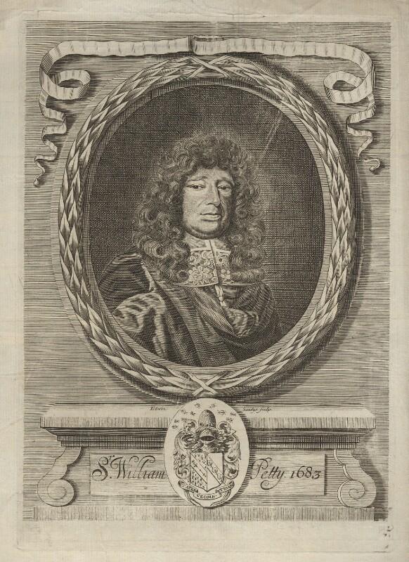 Sir William Petty, by Edwin Sandys, 1683 - NPG D5517 - © National Portrait Gallery, London
