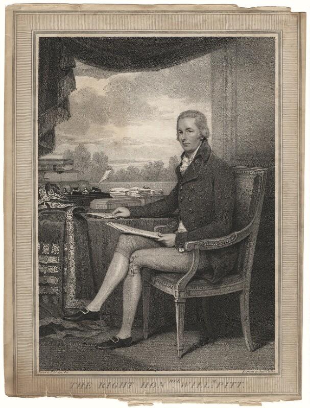 William Pitt, by Anthony Cardon, after  Henry Edridge, published 1804 (1801) - NPG D5528 - © National Portrait Gallery, London
