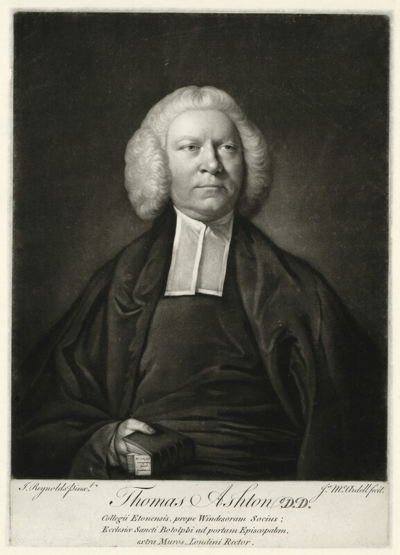 Thomas Ashton, by James Macardell, after  Sir Joshua Reynolds, (1756) - NPG D554 - © National Portrait Gallery, London