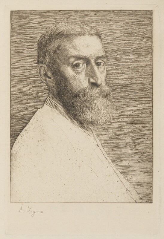 Sir Edward John Poynter, 1st Bt, by Alphonse Legros, published 1877 - NPG D5553 - © National Portrait Gallery, London