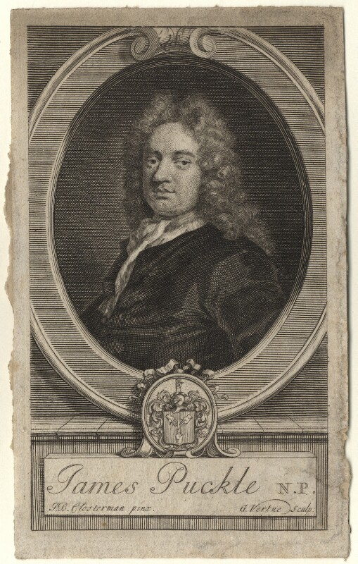 James Puckle, by George Vertue, after  John Closterman, engraved 1714 - NPG D5564 - © National Portrait Gallery, London
