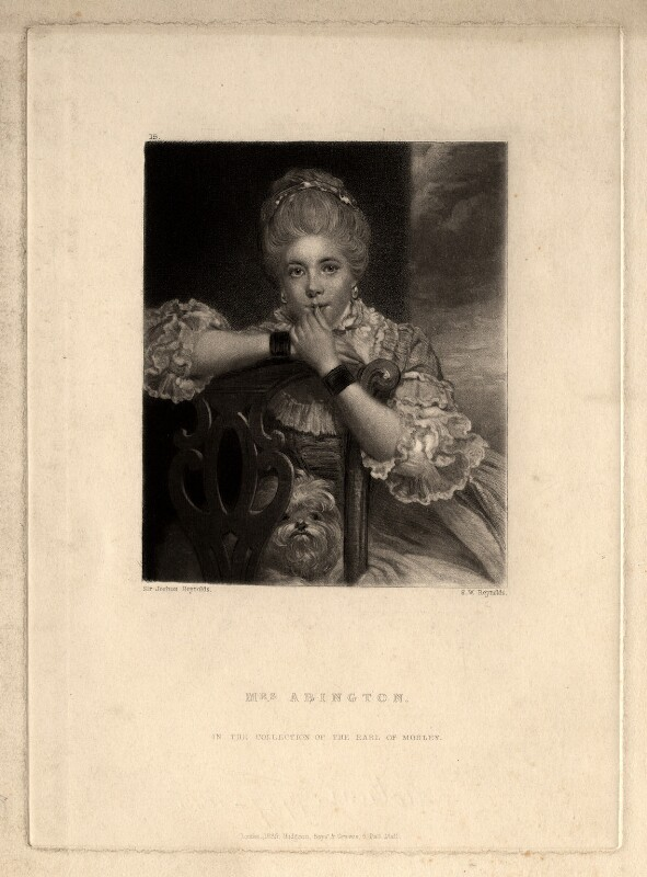 Frances Abington (née Barton), by Samuel William Reynolds, after  Sir Joshua Reynolds, published 1835 - NPG D5610 - © National Portrait Gallery, London