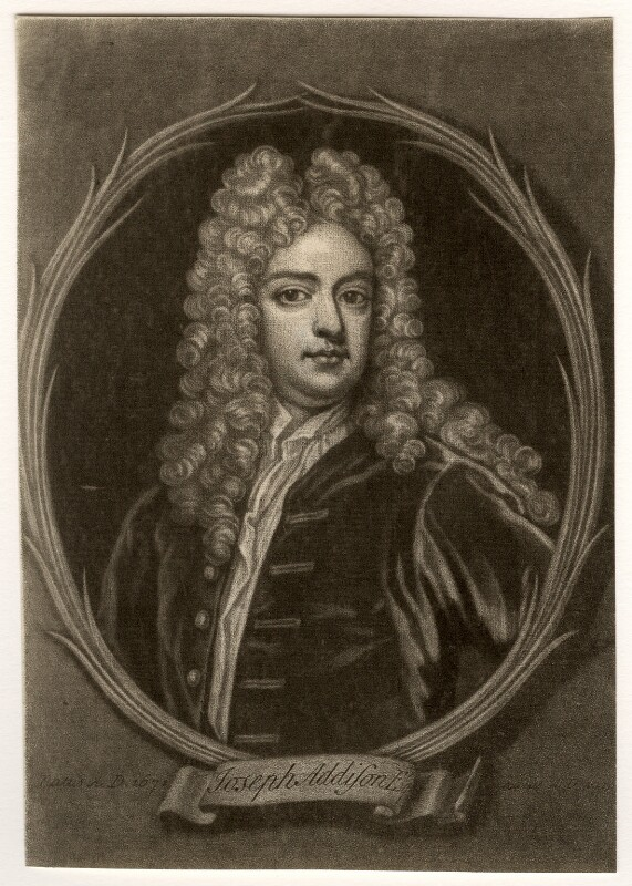 Joseph Addison, after Sir Godfrey Kneller, Bt, after 1719 - NPG D5620 - © National Portrait Gallery, London