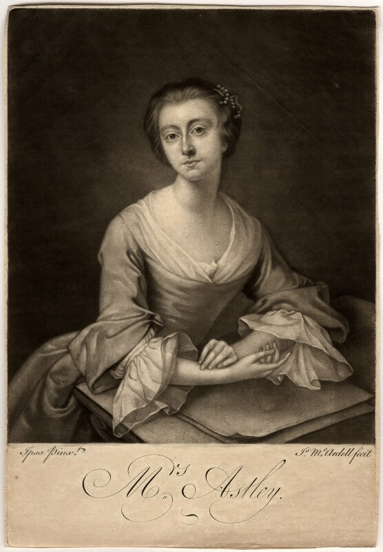 Rhoda (née Delaval), Lady Astley, by James Macardell, after  Rhoda (née Delaval), Lady Astley, 1751 or after - NPG D563 - © National Portrait Gallery, London