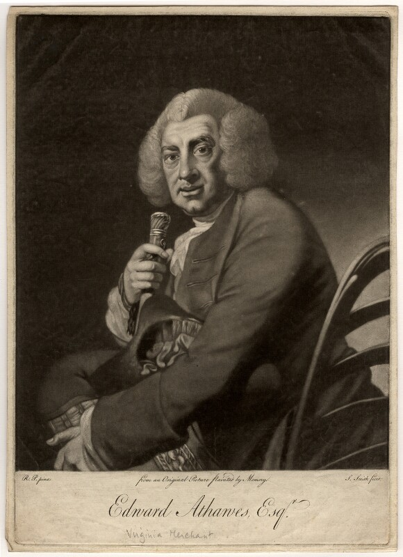 Edward Athawes, by William Dickinson, after  Robert Edge Pine, late 1780s - NPG D564 - © National Portrait Gallery, London