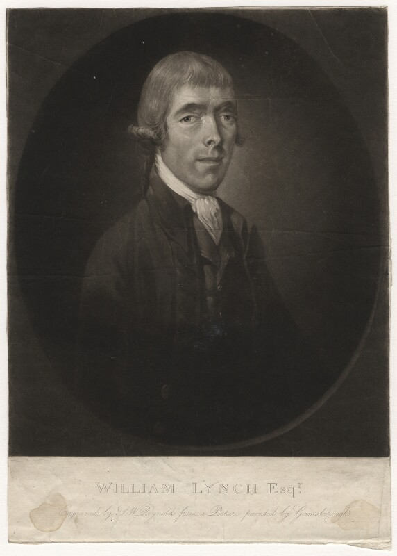 William Lynch, by Samuel William Reynolds, after  Thomas Gainsborough, early 19th century (1750s) - NPG D5649 - © National Portrait Gallery, London